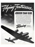 Flying Fortresses Boeing ad Prints by  Anonymous