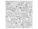 Flower Garden Coloring Art Posters by  Anonymous
