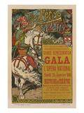 Les Fêtes de Paris - Gala Poster by Eugene Grasset