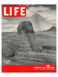 LIFE - Sand-bagged Sphinx 1942 Poster by  Anonymous