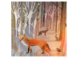 Foxy Wood Prints by Claire Westwood