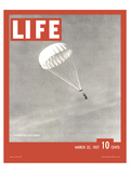 LIFE Parachute Test 1937 Art by  Anonymous