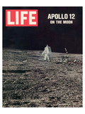 LIFE Apollo 12 on the Moon 1969 Print by  Anonymous