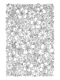 Flowers & Greenery Coloring Art Prints by  Anonymous