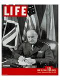 LIFE General Eisenhower 1944 Giclee-tryk i høj kvalitet af Anonymous