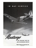 Mustangs In R.A.F. Service Print by  Anonymous