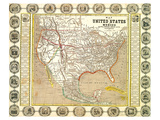 US Mexico Map 1846 Prints by  Anonymous