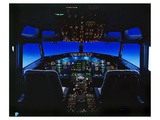 pilot-centered 737-300 Flight Deck Print by  Anonymous