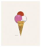 Ice Cream Dessert, c. 1959 (red, pink, and white) ポスター : アンディ・ウォーホル