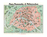 Paris Monumental & Metropolitain Premium Giclee Print by  Dutal