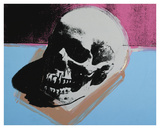 Skull, 1976 (white on blue and pink) Prints by Andy Warhol