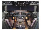 MD-11 trijet flight Deck Kunstdruck von  Anonymous