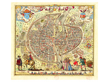 Paris Map by Rossingol 1576 Print by  Anonymous