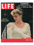 LIFE Grace Kelly wedding dress Prints by  Anonymous