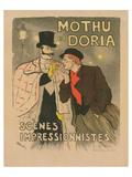 Mothu et Doria Prints by Théophile Steinlen