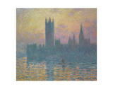 Houses of Parliament Posters af Claude Monet