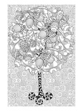 Oaktree Coloring pattern Posters by  Anonymous