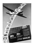 Vintage Douglas DC-3 Ad Posters by  Anonymous