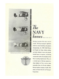 The Navy Knows Boeing ad Art by  Anonymous