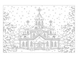 Anonymous - Winter Snow Palace Coloring Art - Poster