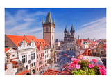 Tyn Church & Clock Tower Prague Prints by  Anonymous