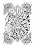 Anonymous - Swan & Amaryllis Design Coloring Art - Poster