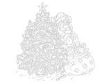 Santa Coloring Lineart Posters by  Anonymous