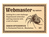 Webmaster Posters by  Anonymous