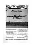 World Record with 4 Engine Boeings Posters by  Anonymous