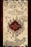 Harry Potter- The Marauder's Map Plakat
