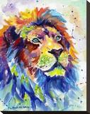 Colorful African Lion Impressão em tela esticada por Sarah Stribbling