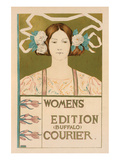 Womens Edition Buffalo Courier Art by Alice Russell Glenny