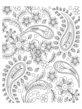 Teardrop Floral Coloring Design Prints by  Anonymous