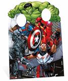 Avengers Assemble Child Stand In Silhouettes découpées en carton