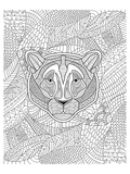 Tiger & Jungle Coloring Design Print by  Anonymous
