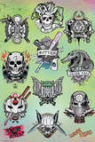 Suicide Squad- Character Tats Posters