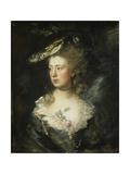 The Artist's Daughter Mary Giclee-trykk av Gainsborough, Thomas