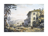 A Post-House Near Florence Giclee Print by William Marlow