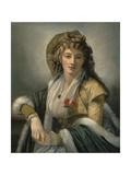 Anna Maria Ferri, the Artist's First Wife Giclee Print by Robert Fagan