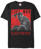 Captain America Civil War- Black Panther Strike T-Shirt