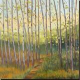 Vista Trees Reproducción en lienzo de la lámina por Libby Smart