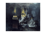 A Foundry: Hot Metal Has Been Poured into a Mould and Inflammable Gas Is Rising Giclee Print by Graham Sutherland