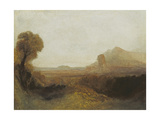 Italian Landscape with a Tower Giclee Print by Joseph Mallord William Turner