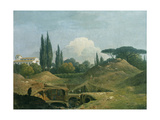 An Excavation of an Antique Building in a Cava in the Villa Negroni, Rome Giclee Print by Thomas Jones