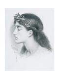 Study of Sappho Giclee Print by Simeon Solomon