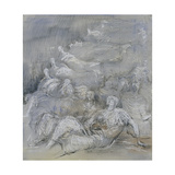 Pale Shelter Scene Giclee Print by Henry Moore