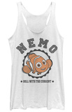 Juniors Tank Top: Finding Dory- Nemo Varsity Tank Top