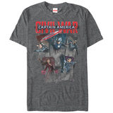 Captain America Civil War- Cap Five T-shirts