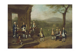Breaking-Up Day at Dr Clayton's School at Salford Giclee Print by Arthur Devis