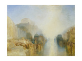 The Harbour of Brest: the Quayside and Château Stampa giclée di Joseph Mallord William Turner